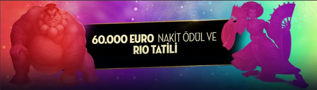 Casino Metrorol 60.000 Euro Nakit Ödül ve Rio Tatili